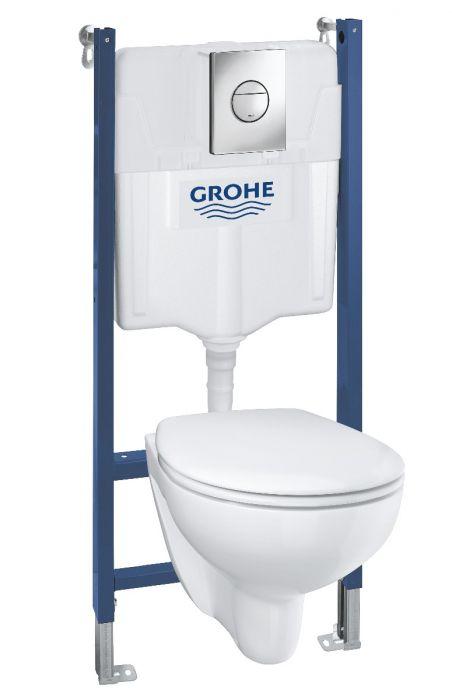 GROHE Solido Toalettpaket inkl. toalettsits/lock, cistern och spolknapp