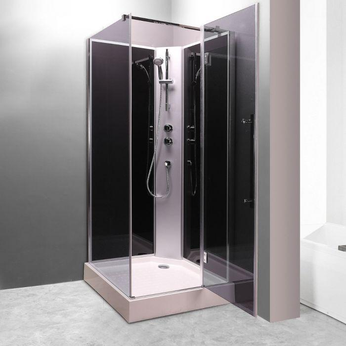 Lea duschkabin 70x70 grå