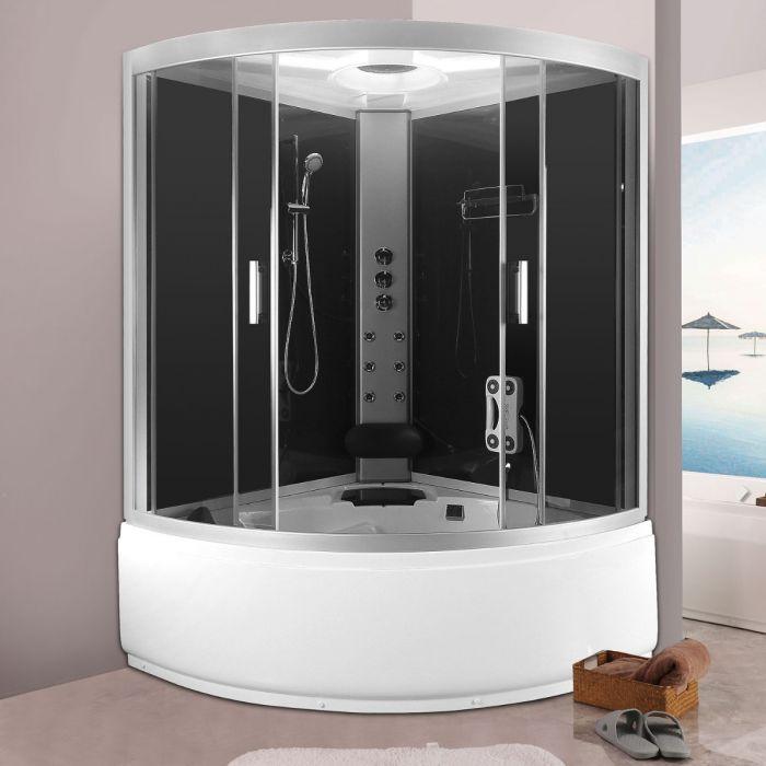 Romeo duschkabin/badkar grå 135x135