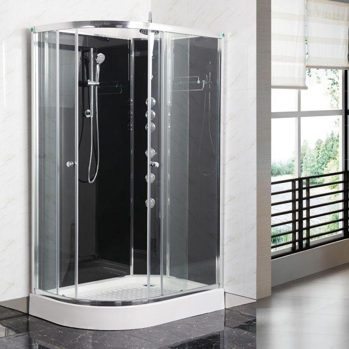 Fossefall 2 Easyfix duschkabin 120x80 höger grå