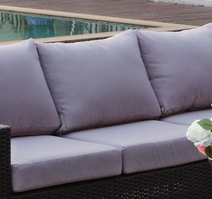 Gr? putetrekk - Sett for komplett Sun daybed