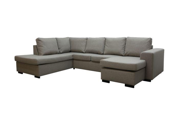 Holmsbu A3D U-soffa med sjeselong - beige