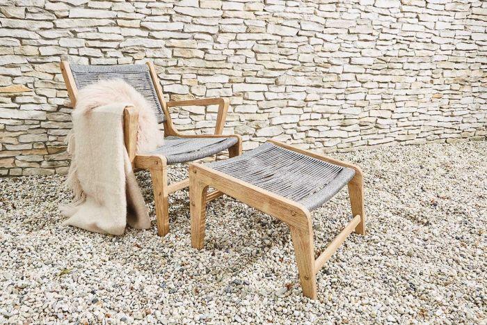 Itea - Lounge-stol med fotpall