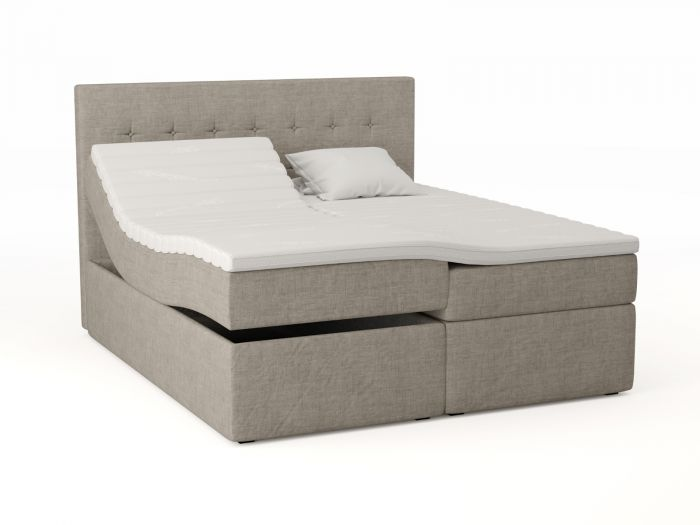 Premium ställbar säng 180x200 - beige
