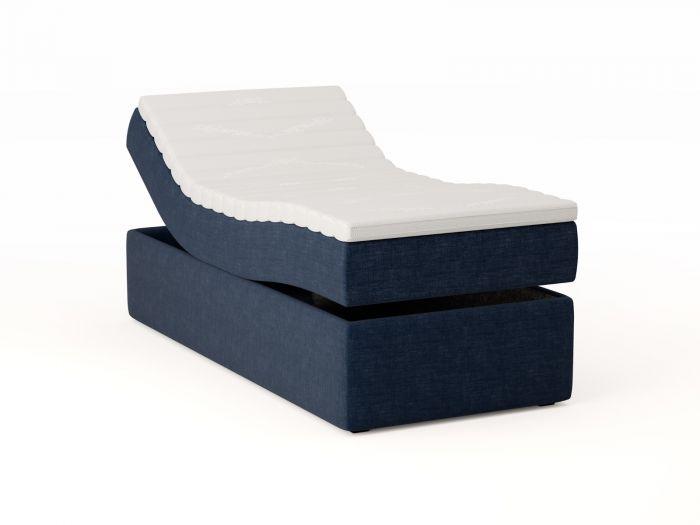 Premium ställbar säng 140x200 - mörk blå