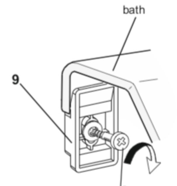 Väggclips / fittings Waterlux badkar