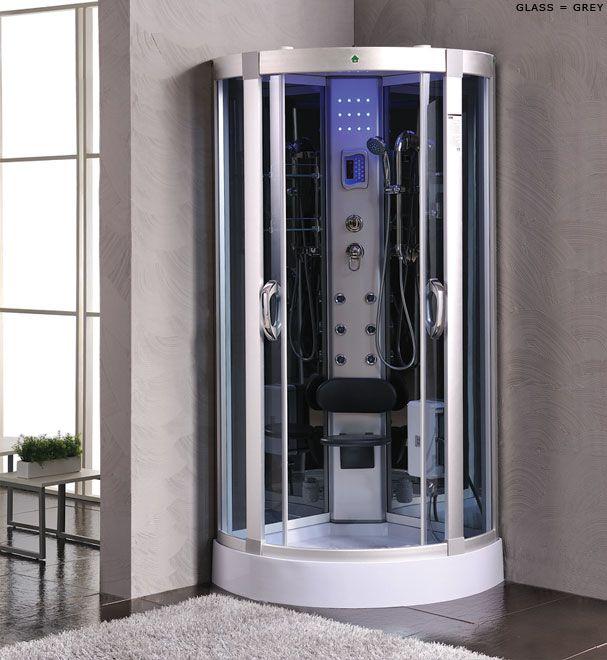 Oceanic duschkabin m/massagedusch 80x80 grå