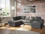 Holmsbu A3D U-soffa med sjeselong - mørk grå