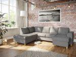 Holmsbu A3D U-soffa med sjeselong - lys grå