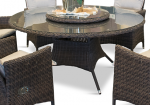 Comfort rundt matbord - chockladbrun rotting