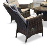 Comfort/Holiday recliner i chockladbrun m/kuddar