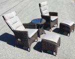 Comfort balkongset - chockladbrun rotting