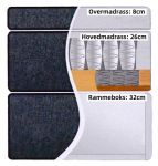 Comfort förvaringssäng 120x200 - lys grå