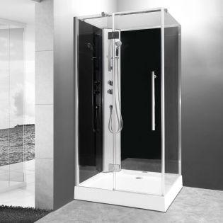Lea duschkabin 100x80 grå vänster
