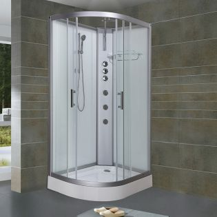 Fossefall 2 Easyfix duschkabin 120x80 höger vit