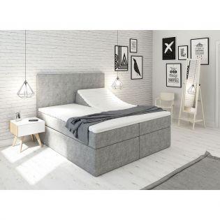 Premium ställbar säng 160x200 - lys grå
