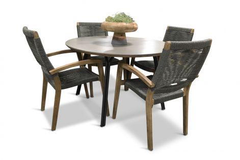 Simi 120 & Itea - fyra stolar och rund matbord