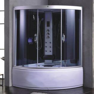 Romeo 1 ångdusch/bubbelbad grå 135x135
