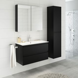 NoraDesign 80 cm badrumsmöbel svart matt