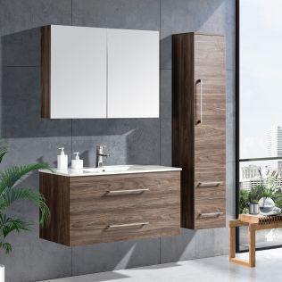LindaDesign 100 cm  badrumsmöbel grå alm
