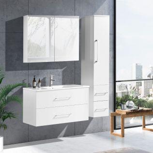 LindaDesign 100 cm  badrumsmöbel vit matt