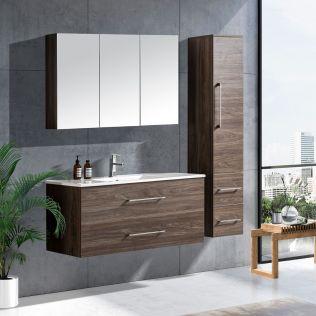 LindaDesign 120 cm badrumsmöbel grå alm