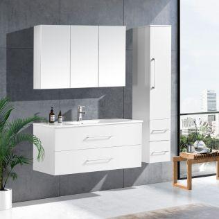 LindaDesign 120 cm badrumsmöbel vit matt