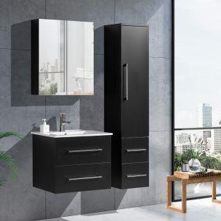 LindaDesign 60 cm badrumsmöbel svart matt