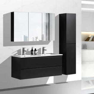 NoraDesign 120 cm badrumsmöbel dubbel mattsvart