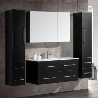 OliviaDesign 120 cm badrumsmöbel singel mattsvart