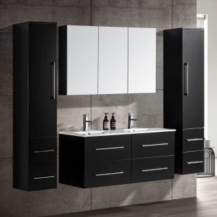 OliviaDesign 120 cm badrumsmöbel dubbel mattsvart