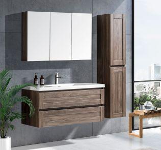 Victoria 120 cm badrumsmöbel grå alm