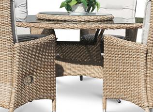 Comfort rundt matbord - naturmix rotting