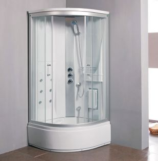 Sierra massagedusch/badkar hvit 90x90 utan ström