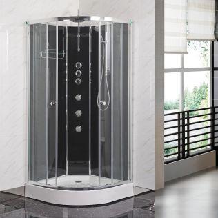Fossefall Easyfix duschkabin grå
