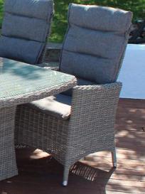 Comfort/Holiday recliner i gråmix m/kuddar