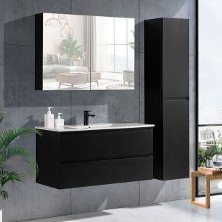 NoraDesign 100 cm badrumsmöbel svart matt