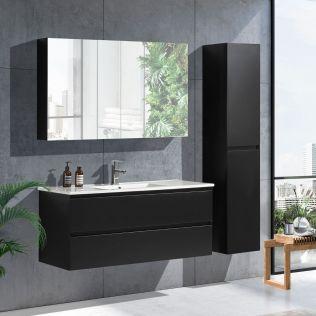 NoraDesign 120 cm badrumsmöbel single svart matt
